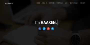 HAAKEN – Personal Portfolio PHP Full Functional Application